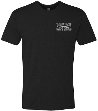 MB Mountains Logo Black T